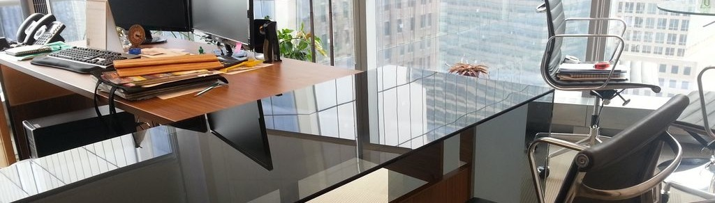 Polish Off Your office With Our frameless Glass desks