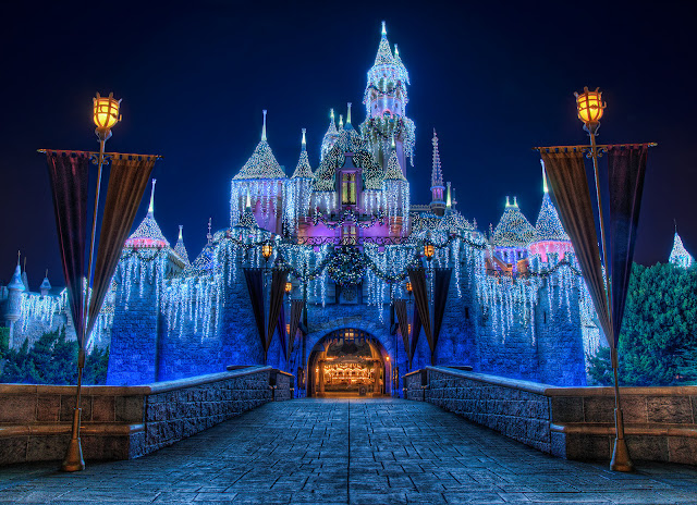 merry christmas castle Disneyland carols wallpaper hd