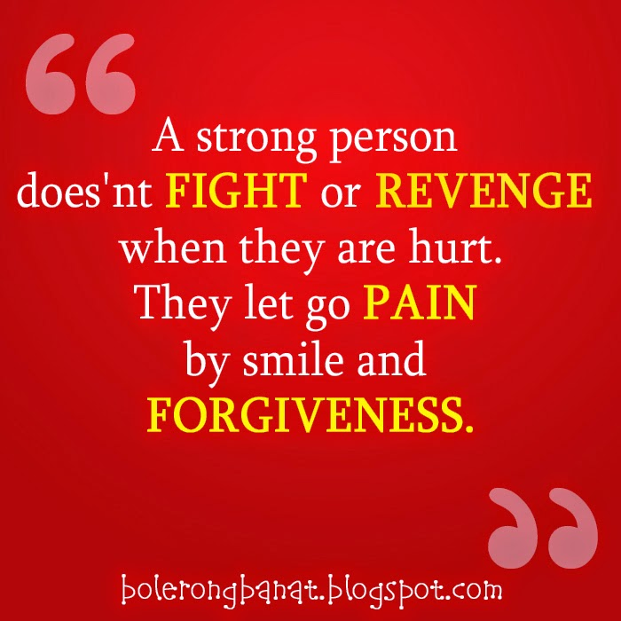 Let go pain by smile and forgiveness