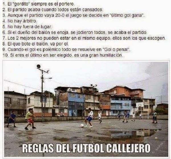 Reglas del fútbol callejero