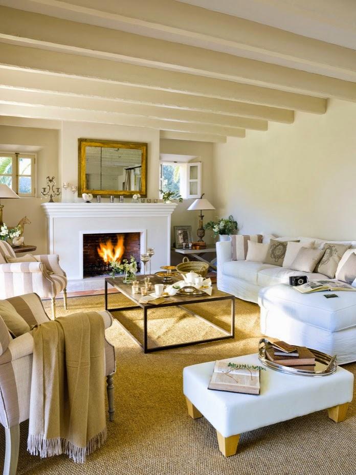 Stebbing house desing salones con chimenea - Decoracion de salones con chimenea ...