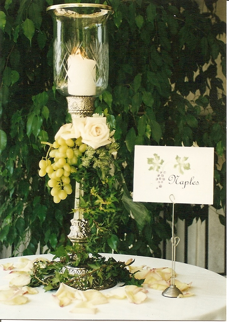 Amore Bella Designs: Italian (Tuscan) Theme Centerpiece and Table Card