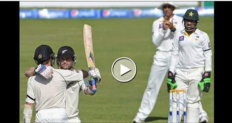 New Zealand Won the 3rd Test By An Innings and 80 Runs, brendon mcculum, Rahat ali, series level, pakistan vs new zealnd,