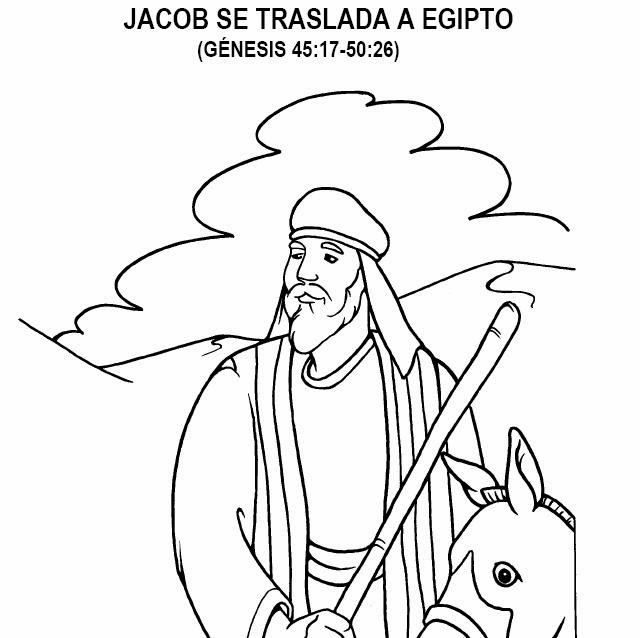 Jacob Bring Food To Isaac In In Jacob And Esau Coloring - Auto ...