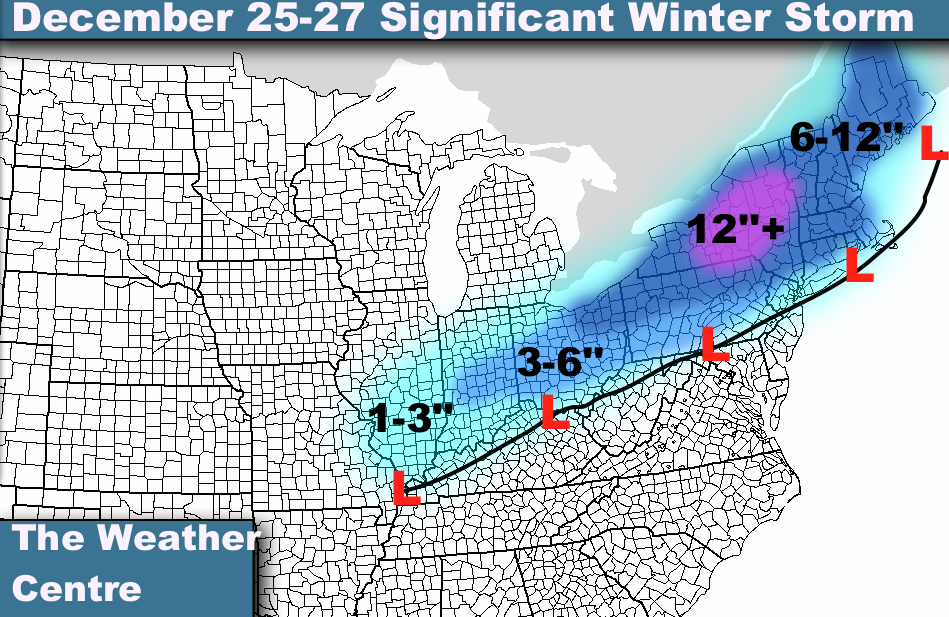 The December 25-27 timeframe only continues to look better and better ...