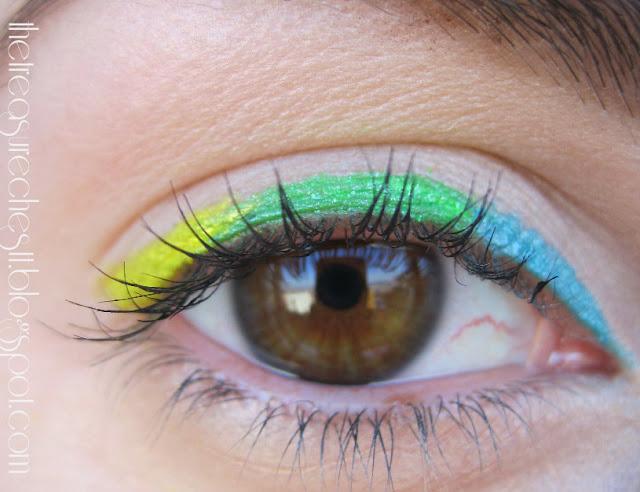 rainbow eye eyeliner tutorial make up