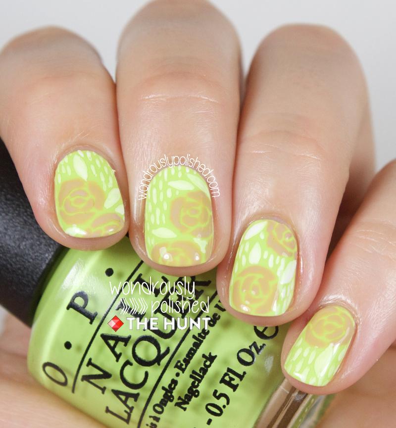 Wondrously Polished Monday Monday Neon Floral Nail Art Tutorial