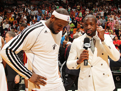 Dwayne Wade interviewing LeBron James