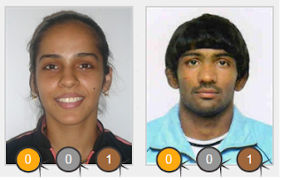 Saina Nehwal and Yogeshwar Dutt with Bronze