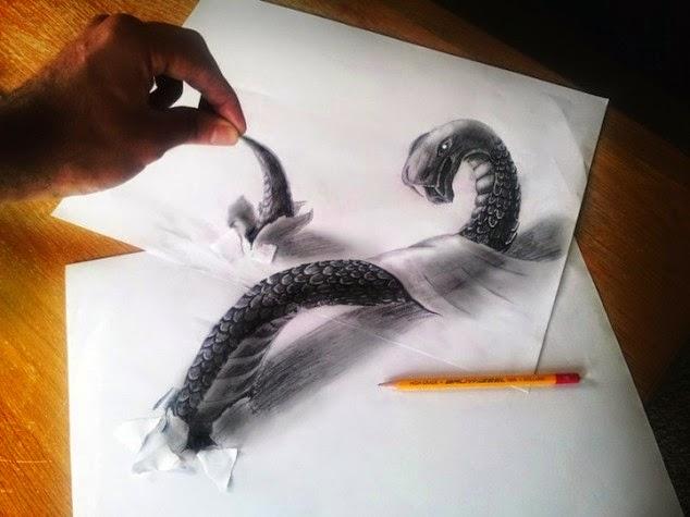 افضل 10 رسومات 3d المرسومة بقلم الرصاص Rawai3Net-3D_Pencil_