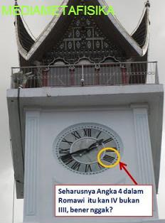 Misteri Angka 4 Pada Jam Gadang, Sumatra Barat