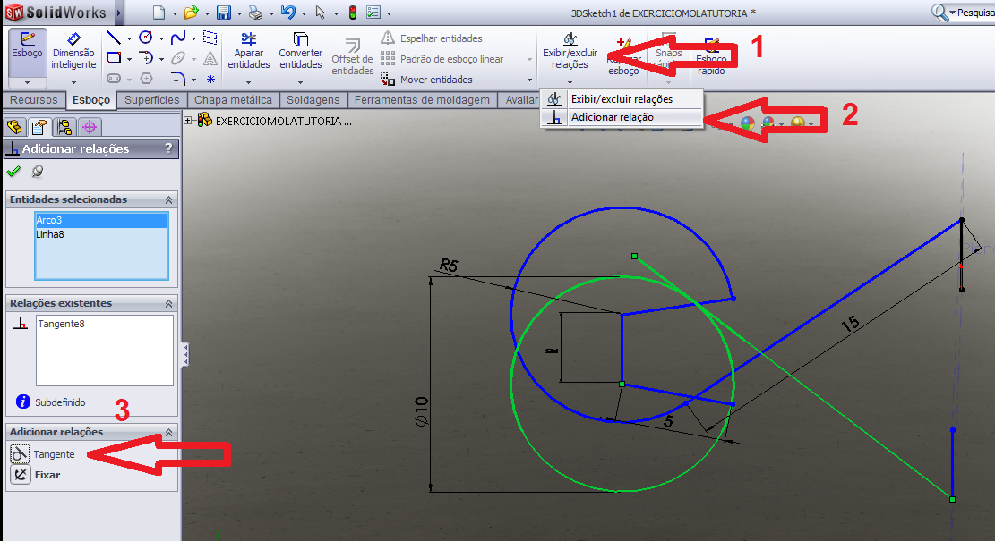how to add alignment relation in solidworks
