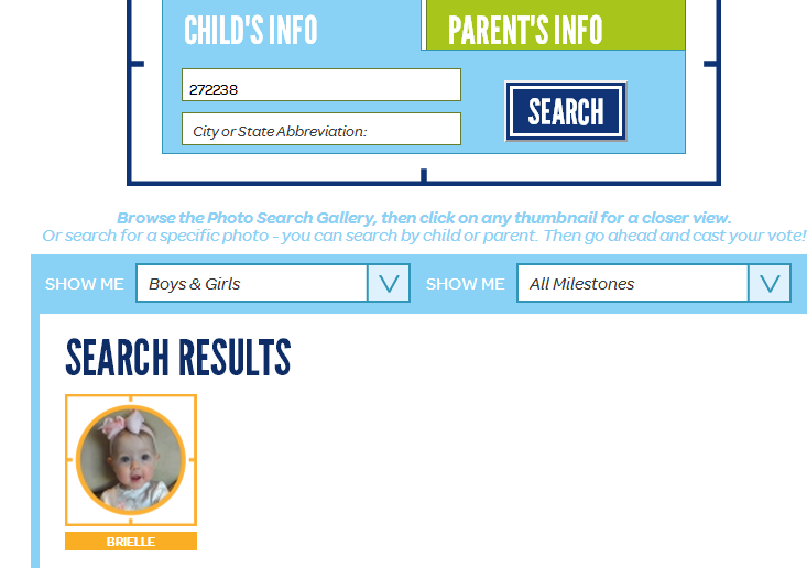 Our baby is in the Gerber Photo Contest! Will you please vote for her?