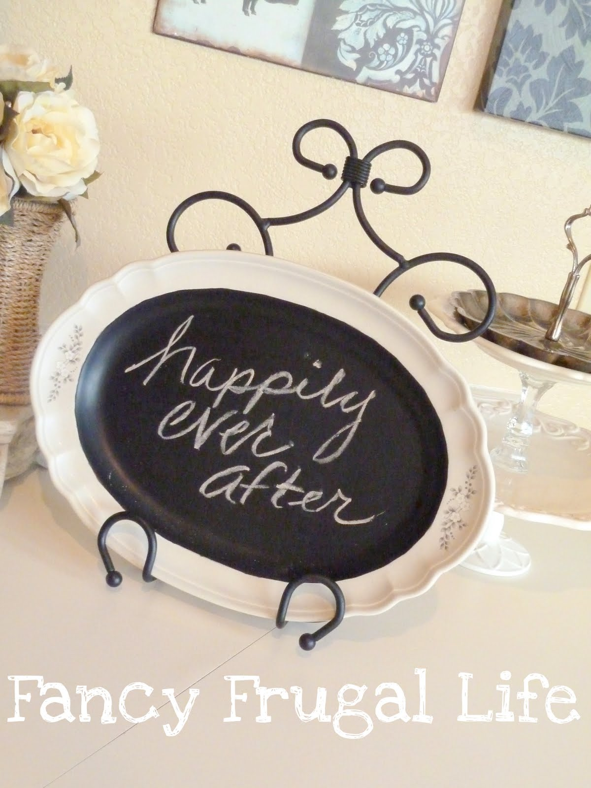 diy chalkboard wedding plate diy chalkboard wedding plate