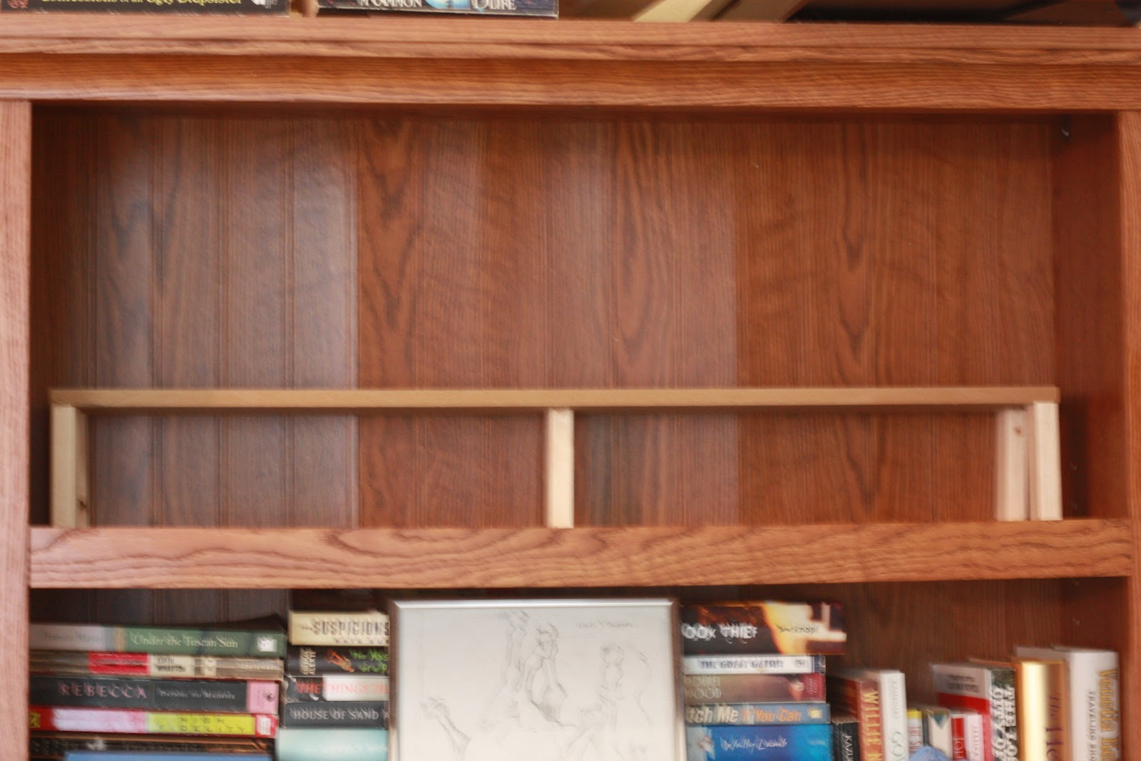 So Now I Have A Raised Row In The Back And Lower Front Seriously How Simple Genius Is This Its Terrible To Stack Books Like Had Been