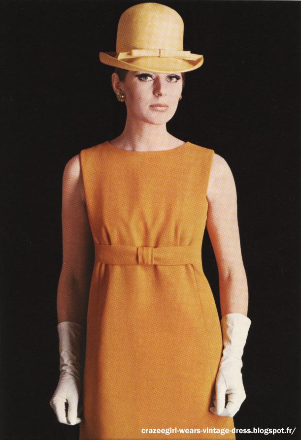 Fabiani 1967 yellow dress 60s 1960 mod