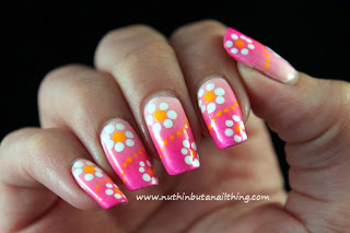 bright neon nail polish nail art