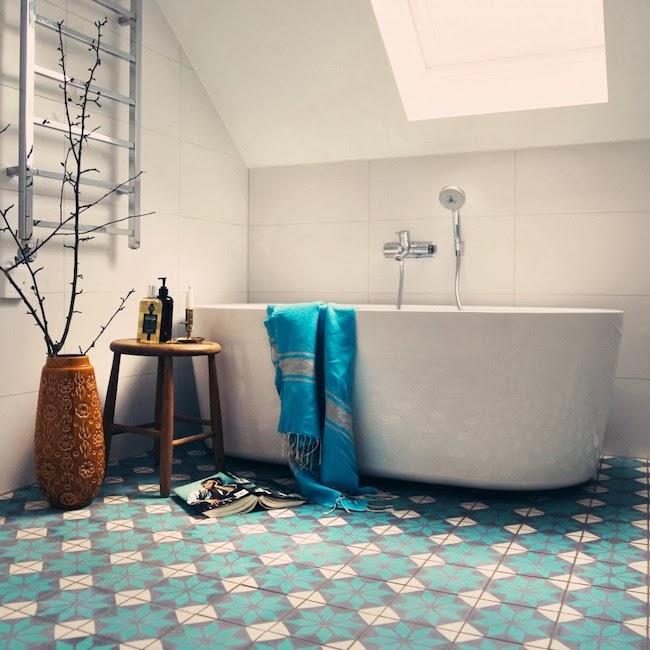 Icono interiorismo decora el suelo con baldosas hidr ulicas for Baldosas interior baratas