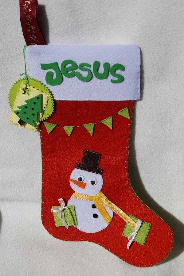 Calcetin de navidad for Decoracion navidena con ninos
