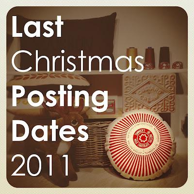 Last Christmas Posting Dates 2011