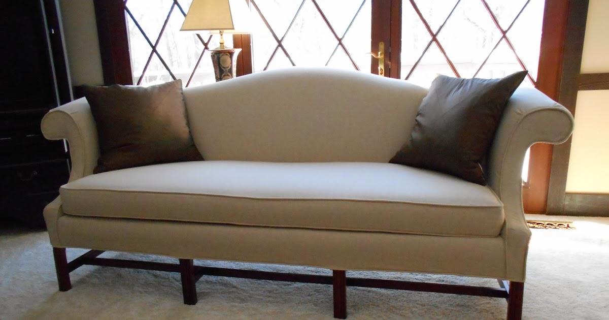 Custom Made Slipcovers Camel Back Sofa