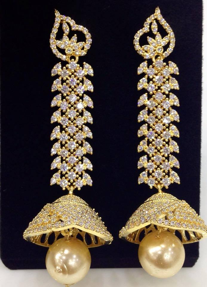 Exclusive Large Cz Jumkas Online Earrings