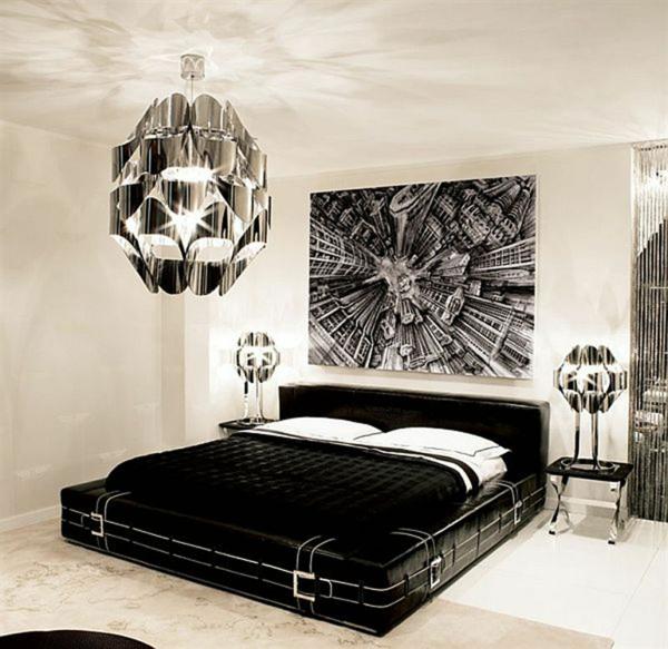 Habitaciones con estilo fotos de dormitorios blanco y negro - Habitaciones en blanco ...