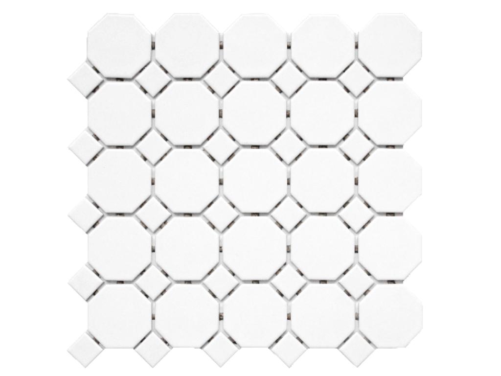 Octagon Dot Tile Bathroom