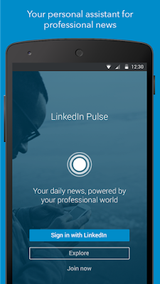 LinkedIn Pulse Mobile Interface