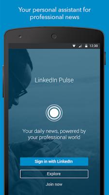 LinkedIn Pulse Mobile Interface