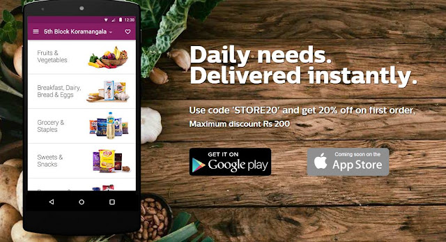 Ola Store to Order Groceries and 20% Discount on first order