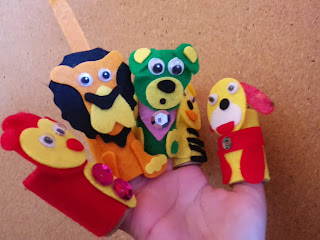 animals crafts felt monkey dog bear lion