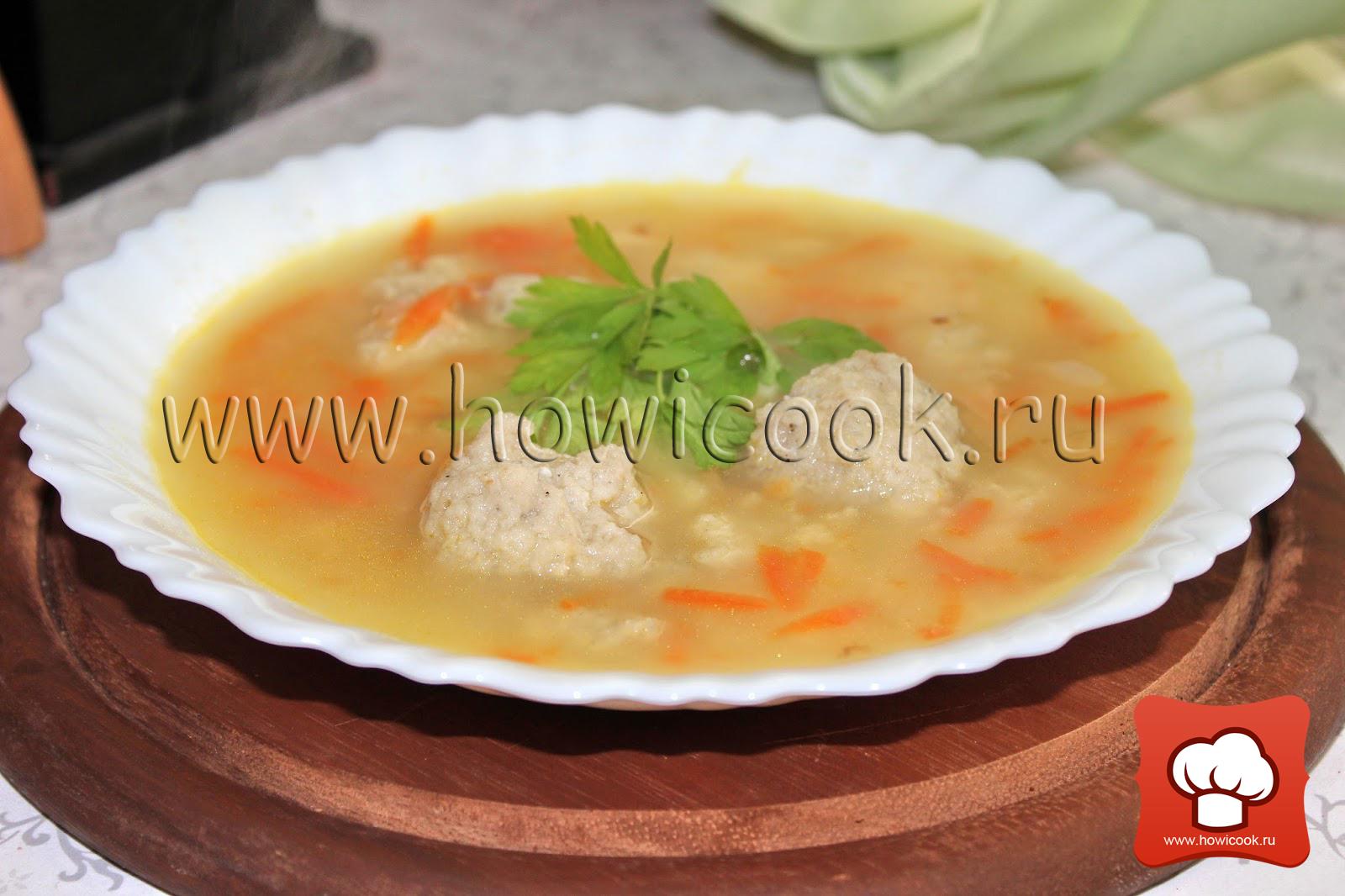 Суп с фрикадельками для детей 23