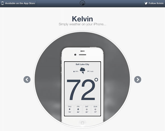 Kelvin iphone app website