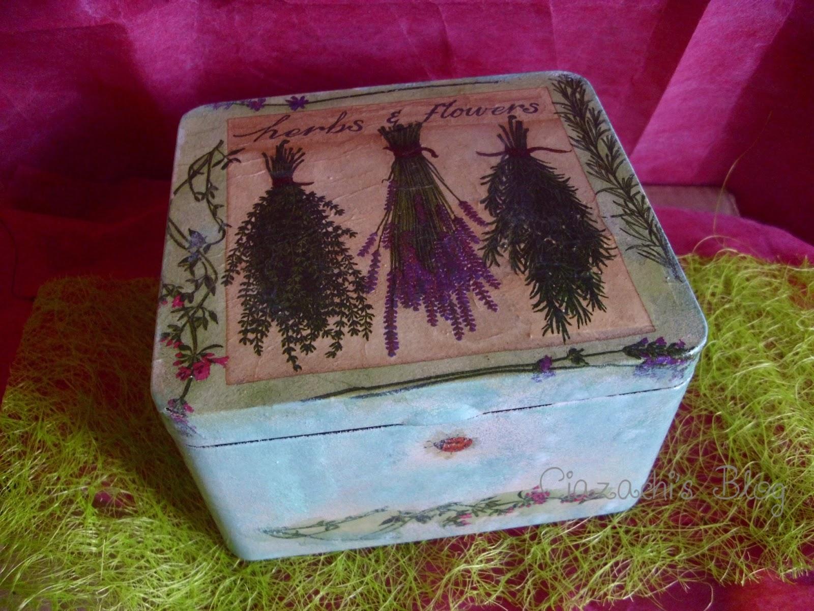 Con le mani di ciazachi il blog la mia scatola porta - Porta tisane ikea ...