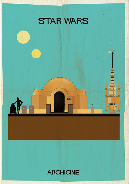 {Art} Architecture in film: Archicine by Frederico Babina | Rue du chat qui peche | Star wars
