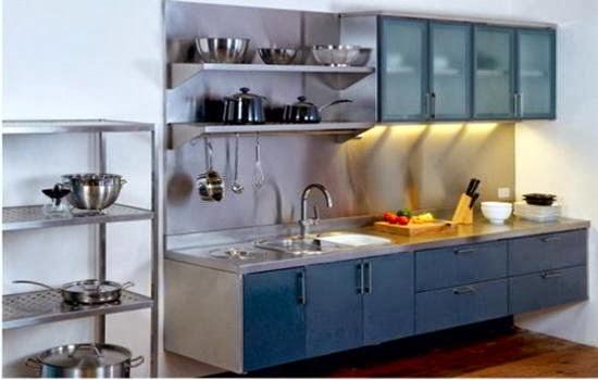 Desain lemari dapur desain dapur terbaru 2014 for Wastafel kitchen set