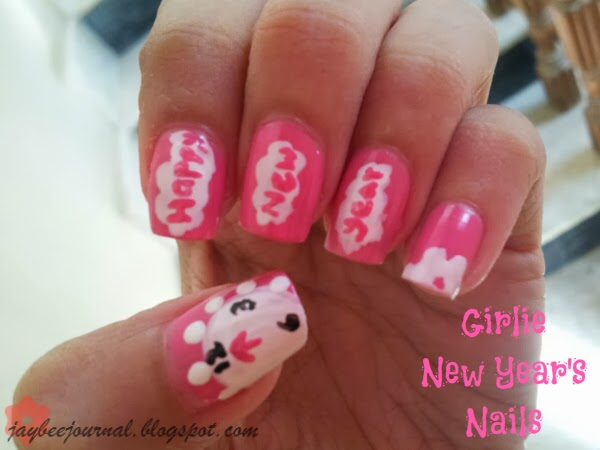 Girly New Year Nails