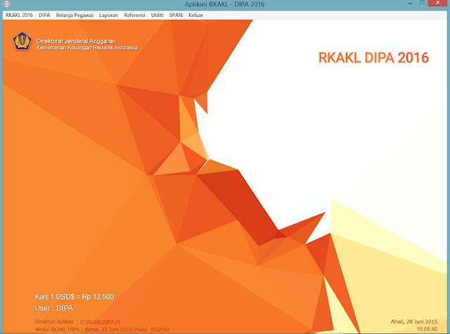 RKAKL DIPA 2016