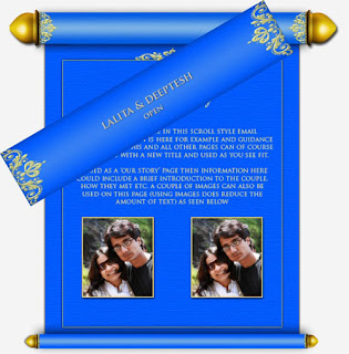 photos Scroll Wedding Cards