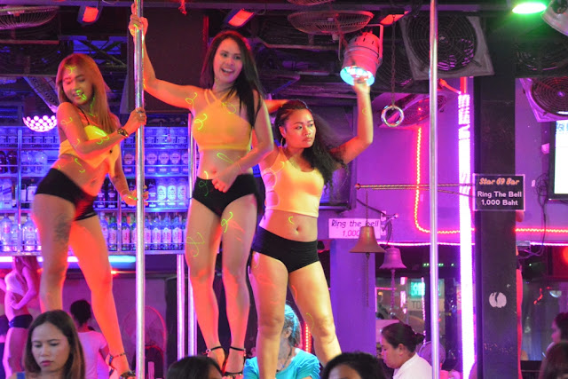 Patong Beach by night Bangla Road dancing