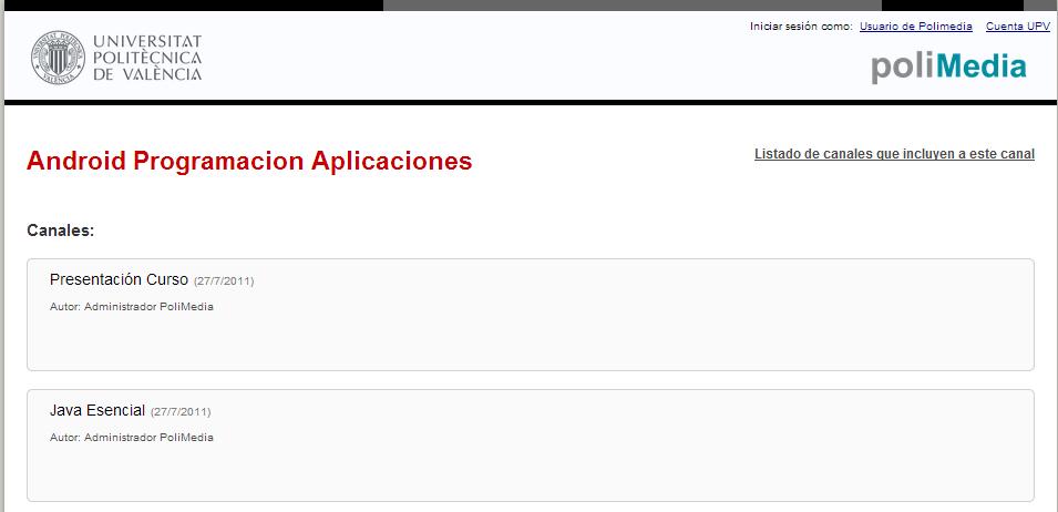 curso MOOC android polimeda UPV