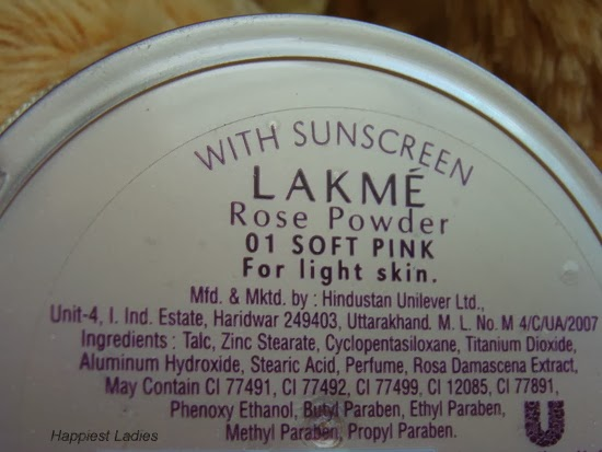 Lakme Rose Powder Ingredients+powder