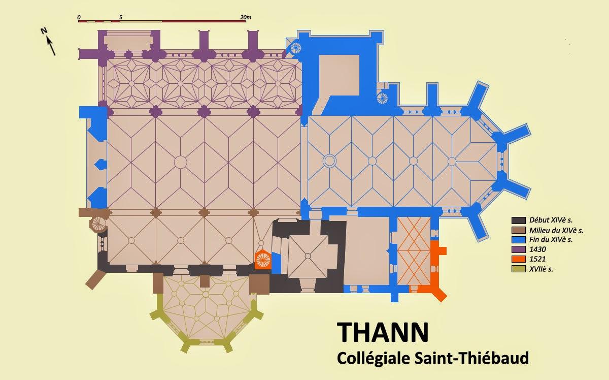 THANN (68) - Collégiale Saint-Thiébaut (Extérieur)