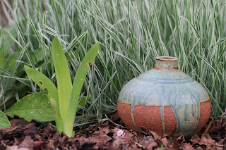 A Pot in a Patch of Bulbous Oat Grass