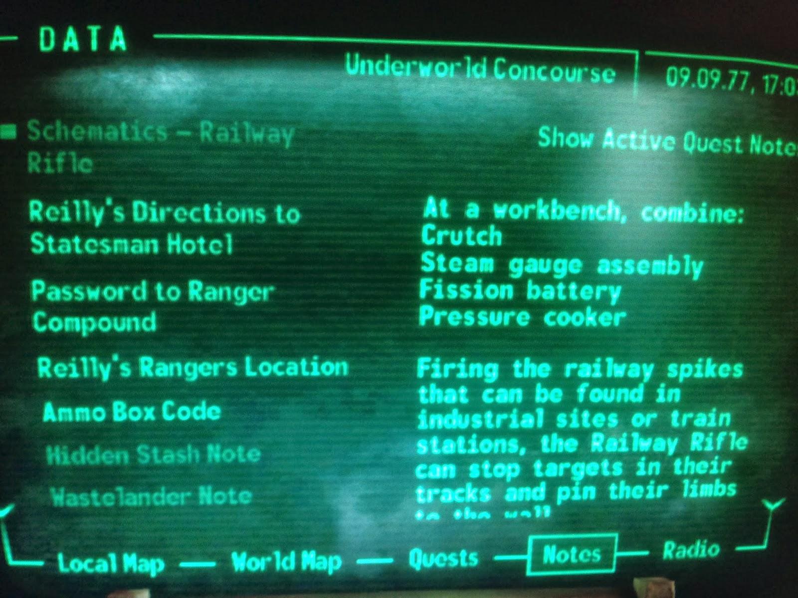 快樂圖騰: 異塵餘生3 武器藍圖Fallout 3 Schematics on