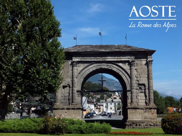 Aoste Aosta Italie vestiges romains arc de triomphe auguste