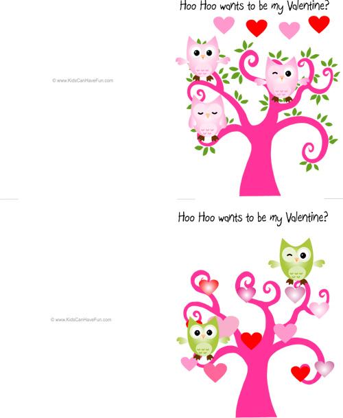 My Owl Barn Valentine Owl Printables