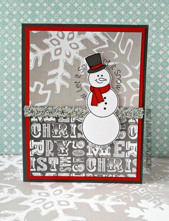 Snowman Card / Plum Poppy Studio