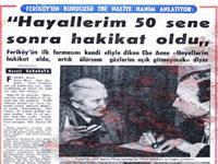 kurucumuz Feriköy'ün ilk formasını kendi eliyle diken  Ebe Naciye hanım